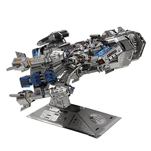 Update Version MU 3D Metal Puzzle Battle Cruiser Battleship BC-S01 DIY 3D Metal Puzzle Kits Laser Cut Models Jigsaw Toys Maplemu