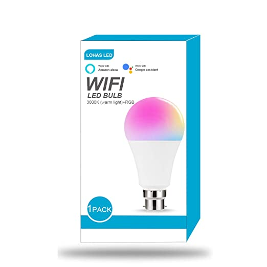 Dimmable Tunable White 12W Bright Smart WiFi Bayonet Bulb Novostella B22 LED RGB Light Bulb Work with Alexa Google Home IFTTT RGBCW, 100W Hal Bulb Equivalent, 1150lm, 3 Pack, No Hub Required