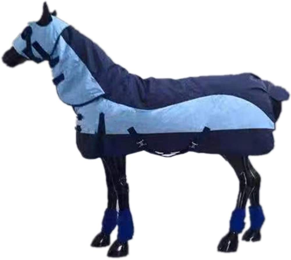 Rhww Todo Alrededor 900 D Mantas para Caballos para Pony Impermeable Transpirable Invierno Gélido con Arnés,145
