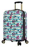Betsey Johnson Luggage Hardside Carry On 20″ Suitcase With Spinner Wheels (20in, Stripe Floral Hummingbird) For Sale