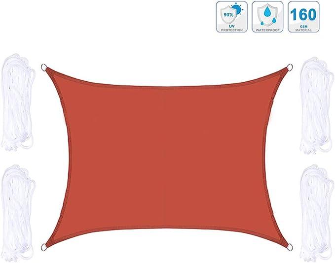 GAOZ Cuadrado 2m x 2m Tela de Sombra Bloque UV Tela de sombrilla con Cuerda Libre para Patio al Aire Libre y jardín, pérgola, Patio Trasero, Actividades de Patio: Amazon.es: Hogar