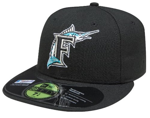 Amazon.com   MLB Florida Marlins Authentic On Field Game 59FIFTY Cap    Sports Fan Baseball Caps   Sports   Outdoors e618c90f2fa