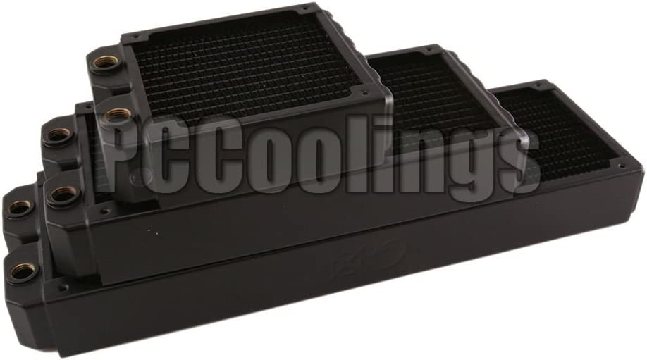 Quality 360 Radiator Copper 45mm Ultra Thick 2 x Ports G1//4 T with Fans /& Guards