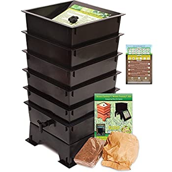 Amazon.com : Worm Factory 360 WF360B Worm Composter, Black ...
