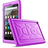 Poetic TurtleSkin All-New Amazon Fire HD 8 2017 Rugged Case Heavy Duty Silicone and Sound-Amplification Feature Cover for Amazon Fire HD 8 2017 (7th Generation,2017 Release) Purple