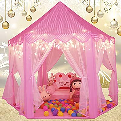 Monobeach Princess Tent Girls Large Playhouse Kids Castle Play Tent With Star Lights Toy For Children Indoor And Outdoor Games 55 X 53 Dxh Buy Online At Best Price In Ksa