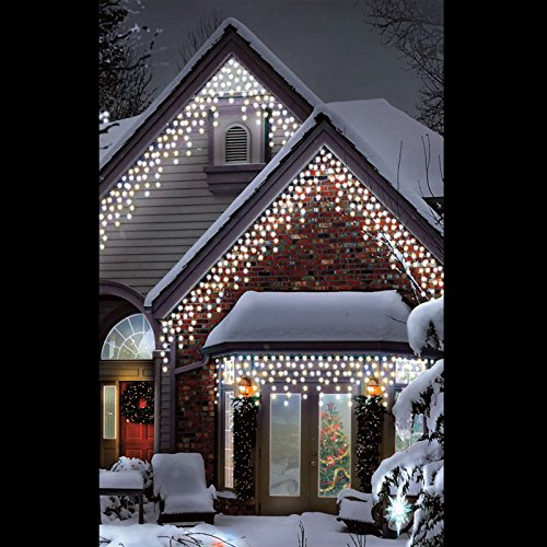 12m (39ft) 500 LEDs Outdoor LED Super-Long Icicle Lights in Warm & Ice White