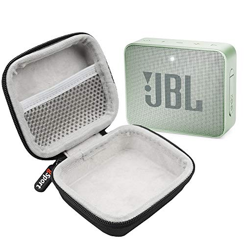 JBL GO 2 IPX7 Waterproof Ultra Portable Bluetooth Speaker Bundle with gSport Deluxe Hardshell Case (Mint)