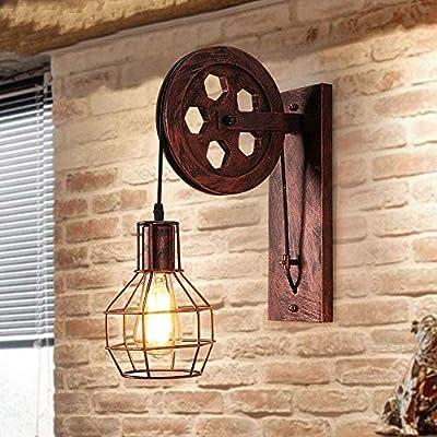 WBXNB Lámpara De Pared E27 Vintage Retro Iluminación De Pared Iluminación Creativa para Escalera Hall Cafe Bar Restaurante Hotel, Oro, Oro: Amazon.es: Hogar