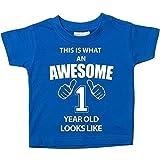 C'est ce qu'un Awesome 1er anniversaire 1an old Looks Like Bleu pour Bébé Enfant disponible en tailles 0-6mois à 14-15ans nouveau bébé cadeau Sister - bleu, 12-18 mois