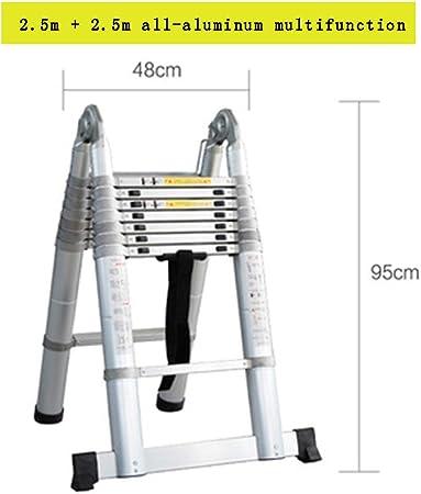 Multipropósito Telescópica Una Escalera Marco con Bisagras De Extensión Plegable De Aluminio Escalera Plegable para Trabajo Pesado MAX Capacidad De Carga De 330Lb Inicio De Trabajo Al Aire Libre,G: Amazon.es: Hogar