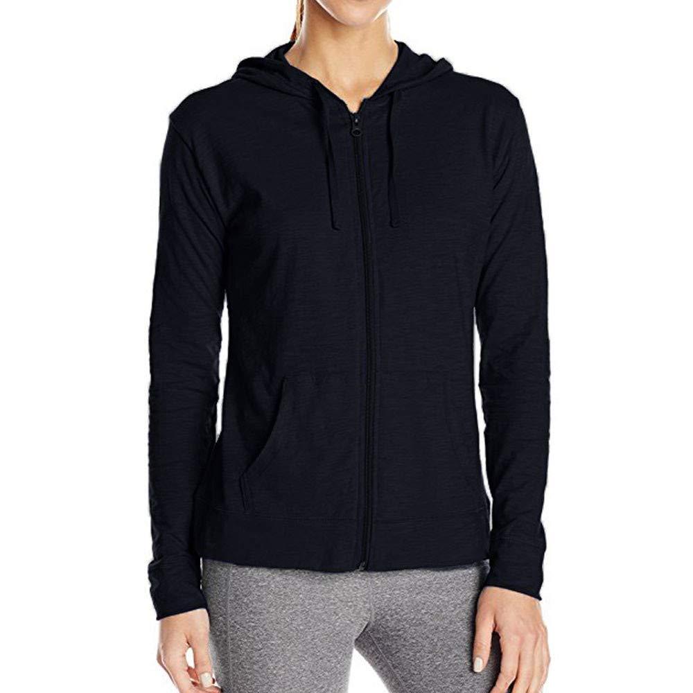 Pervobs Coat&Jacket, Clearance! Women Loose Long Sleeve Solid Classic Slim Full Zip Hoodie Thin Jacket Coat Pockets (XL, Navy) by Pervobs Women Coat&Jacket (Image #2)