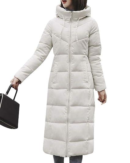 4af2830628 Quge Femme Manteau Doudoune Longue Lâche Parka Blouson Veste Chic Très  Grande Taille Blanc S