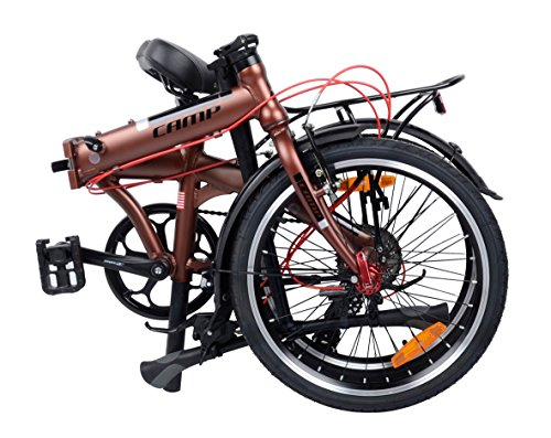 "Camp 20"" Alloy 8 Speed Folding Bike City (Brown)"