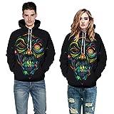 HTHJSCO Halloween Unisex Hoodies Sweatshirts, Women Men 3D Print Pocket Hoodie Sweatshirt Pullover Top (Multicolor A, XXL/XXXL)