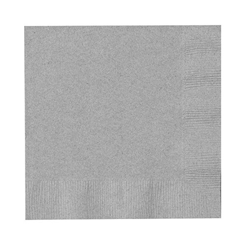 Creative Converting Touch of Color 2-Ply 50 Count Paper Beverage Napkins, Shimmering (Shimmering Decor)