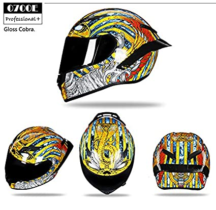 Woljay Integralhelm Helm Motorradhelm Motocross Offroad Moto Street Helme Fahrrad Helme S, Carbon-Lackierglanz