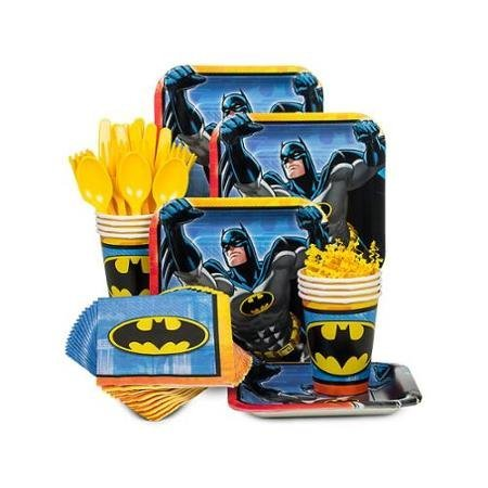 Fork And Spoon Costume (Costume Supercenter BBKIT794 Batman Birthday Party Standard Tableware Kit For 8 Guests)