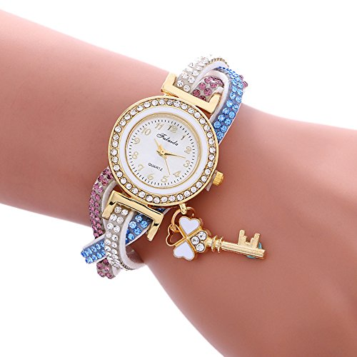 COOKI Womens Bracelet Watches Clearance Ladies Watches Female Watches on Sale Cheap Leather Watches-Q7 (White)