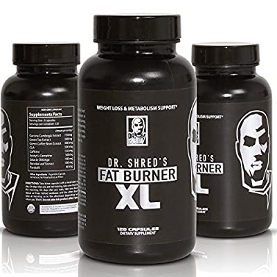 FAT BURNER XL - The NATION'S FIRST FOUR STEP Thermogenic Muscle Preserving Fat Burner - Garcina, Green Tea Extract, CLA, & 7 More Fat Burners - MEN and WOMEN Weight Loss