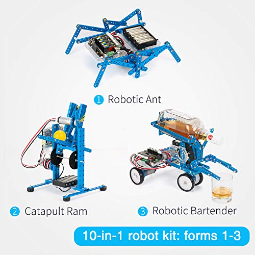 Makeblock DIY Ultimate Robot Kit - Premium Quality - 10-in-1 Robot - STEM Education - Arduino - Scratch 2.0 - Programmable Robot Kit for Kids to Learn Coding, Robotics and Electronics by Makeblock (Image #4)
