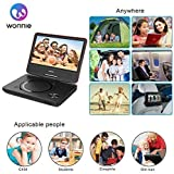 "WONNIE 2019 New 10.7"" Kids Portable DVD Player with 9 inch Swivel Screen, 5 Hours Rechargeable Battery, USB / SD Slot, for Kids and Car"