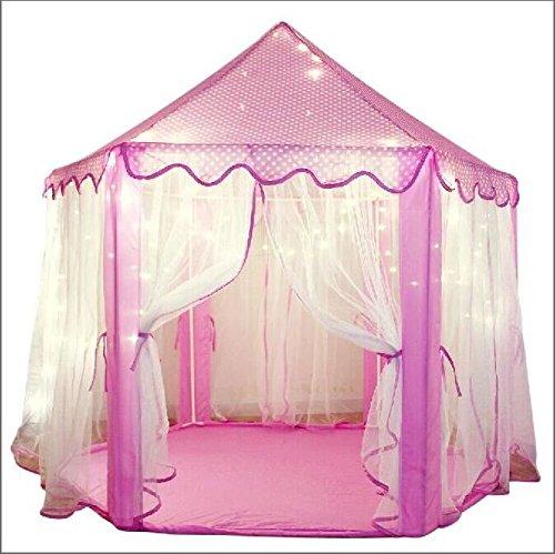 Outdoor Innen Princess Castle Play Zelten, shayson Große Playhouse Kinder mit 100LED Lichter USB für Festival Fairy Princess Castle Zelt, neuestes Design, extra große Räume - play tent+ 100 light