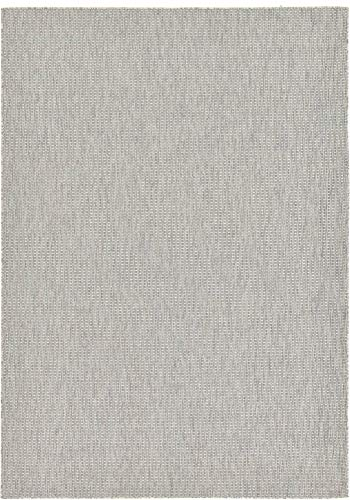 11 Modern Rug Collection - Unique Loom Outdoor Solid Collection Casual Transitional Indoor and Outdoor Flatweave Light Gray  Area Rug (8' 0 x 11' 4)