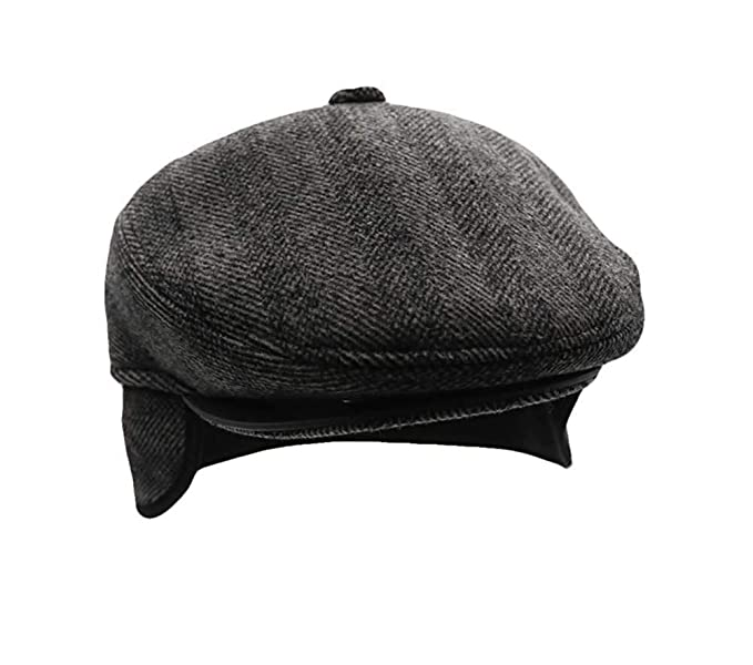 29f18f4737c Men s Irish Berets Polyester Wool Velvet Flatcap Ivy Gatsby Newsboy Hunting  Hat Gatsby Driver Caps Black