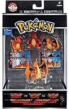 Pokemon XY Charmander, Charmeleon, Charizard & Mega Charizard Y Mini Figure 4-Pack