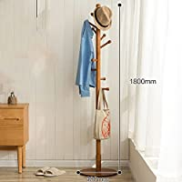 SWEET&HONEY Cloth hanger rack stand Tree hat hanger holder Free standing Solid wood coat rack Floor hanger For bedroom Living room Hall-10-hooks-C 40x180cm(16x71inch)