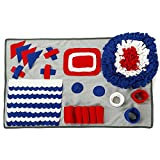 MORYSONG Dog Snuffle Mat for Small Large Dogs, Dog Nose work Blanket, Dogs Feeder Placemat, Dog Play Mat Sniffing Training Pad Fun Mats, Great for Release Pressure 19'' x 29.5'' Blue
