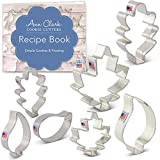 Ann Clark Cookie Cutters 7-Piece Fall Leaves Cookie Cutter Set with Recipe Booklet, Oak, Teardrop and Maple Leaf Shapes
