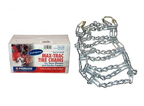 New 5552 Rotary Set Of 2 410x350x4 Snow Thrower Tire Chains 2 Link Spacing --W#436BRE T44/35PDS672485 by Rotary (Image #1)