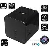 Mini HD Video Camera Wifi Spy Camera Wall Charger Alarm Clock (wall charger)