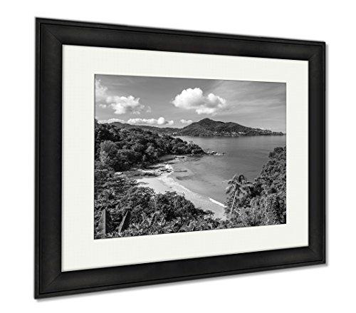 Natural Wood Aqua Liquid (Ashley Framed Prints Laem Sing Beach Phuket Thailand, Wall Art Home Decoration, Black/White, 26x30 (frame size), Black Frame, AG5889673)