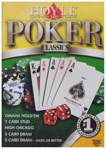 - Hoyle Poker Classics (PC CD) Omaha Hold'em, 7 Card Stud, High Chicago, 5 Card Draw, 5 Card Draw- Jacks or Better
