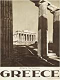 TRAVEL TOURISM ATHENS GREECE PARTHENON ACROPOLIS ANCIENT COLUMN 18x24 INCH ART POSTER PRINT PICTURE LV7478