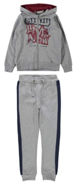 Name It Tuta a completo giacca pantalone felpato cappucci taglia 10a colore grigio