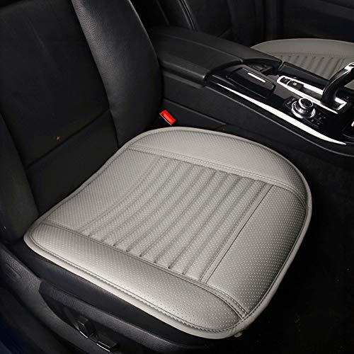 Dr.OX 2PCS Four Seasons General Pu Leather Bamboo Charcoal Breathable Comfortable Car Interior Seat Cushion Cover Pad Mat (Gary)