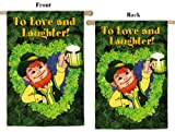 Love And Laughter Vertical Flag For Sale