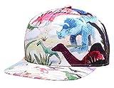 NUZADA Printed Cotton Snapback Baseball Cap Hip Hop Girls Boys Sporty Flatbrim Hat