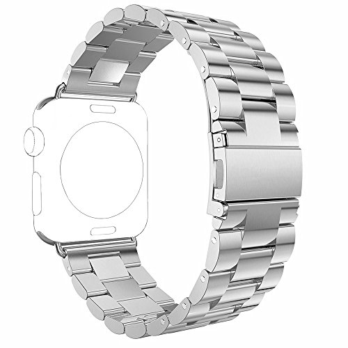 Apple Watch Band, PUGO TOP 38mm Stainless Steel Metal Replacement Classic Band for Apple Watch Series 2 Series 1 38mm, Silver