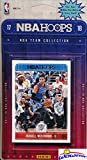 Oklahoma Thunder 2017/18 Panini Hoops NBA Basketball EXCLUSIVE Factory Sealed Limited Edition 9 Card Team Set with Russell Westbrook, Carmelo Anthony & Many More! Shipped in Bubble Mailer! WOWZZER!