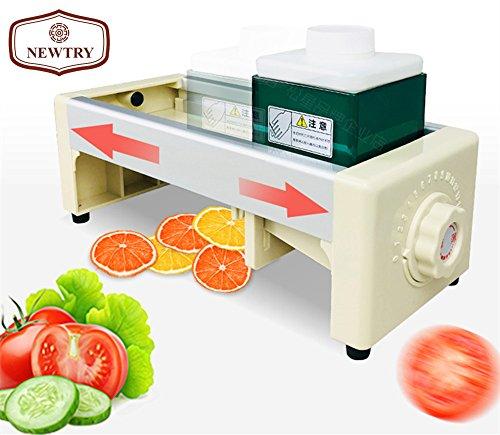 NEWTRY 1-10mm Dial adjustable Commercial Fruit and Vegetable Slicer Manual Lemon Cutting Machine Super Thin Slice for Ginger Potato