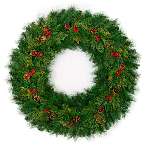- Mixed Berry and Pine Cone Wreaths Christmas by Autograph 48 Inches