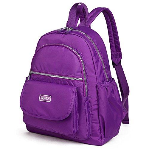 Imperméable Bébé Pourpre La Mode Couleur Dos Multi Sac Du À Lumière Portable D'épaule fonctionnel Purple Mère L'extérieur Dark zwTR8q