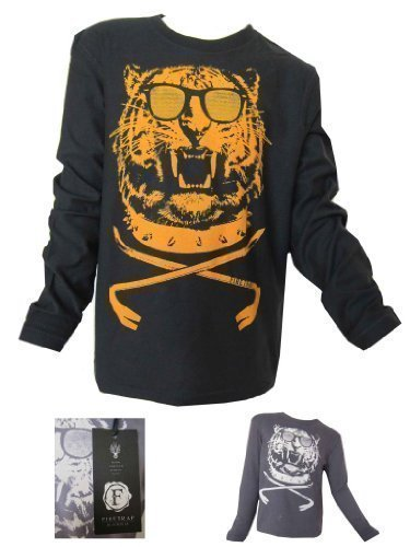 Firetrap Boys Long Sleeved Top Tiger Motive 100% Genuine Firetrap Ages 4Y-15Y