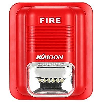 OWSOO Fire Alarm Siren Alarm Siren Horn Strobe Alert Security Safety System for Home, Office ,Hotel Restaurant,etc