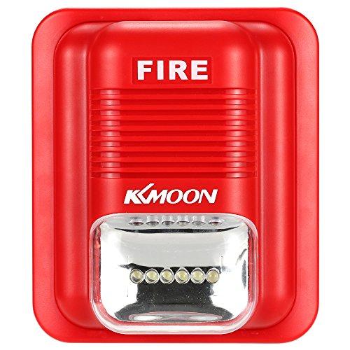 KKmoon First Alert Fire Alarm Siren Sound & Strobe Alert Horn Security Safety System for Home Office Hotel Restaurant